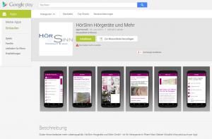 HörSinn-App Google Play-Store